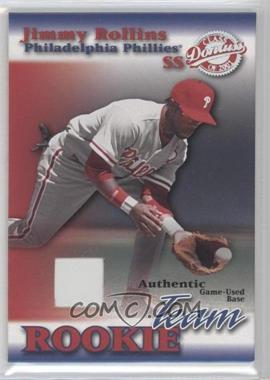 2001 Donruss Class Of 2001 Rookie Team Materials [Memorabilia] #RT-03 - Jimmy Rollins /200