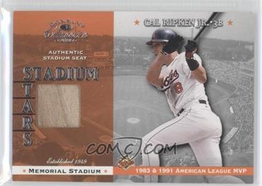 2001 Donruss Classics Stadium Stars #SS-2 - Cal Ripken Jr.