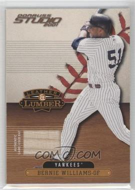 2001 Donruss Studio Leather & Lumber #LL-44 - Bernie Williams