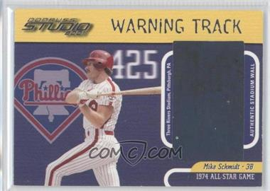 2001 Donruss Studio Warning Track #WT-20 - Mike Schmidt