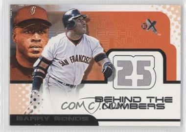 2001 EX Behind the Numbers Jerseys #BABO - Barry Bonds