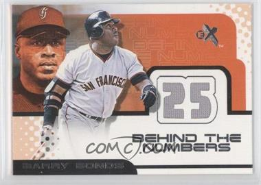 2001 EX Behind the Numbers Jerseys #N/A - Barry Bonds