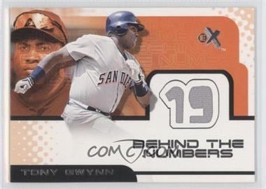 2001 EX Behind the Numbers Jerseys #N/A - Tony Gwynn