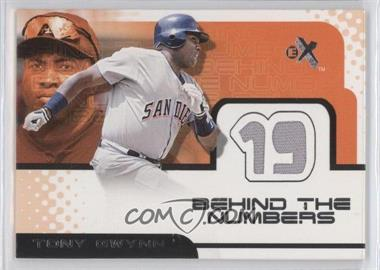 2001 EX Behind the Numbers Jerseys #TOGW - Tony Gwynn