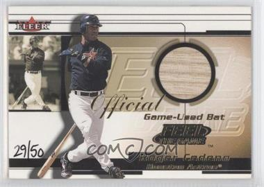 2001 Fleer Feel The Game Gold #N/A - Roger Cedeno /50