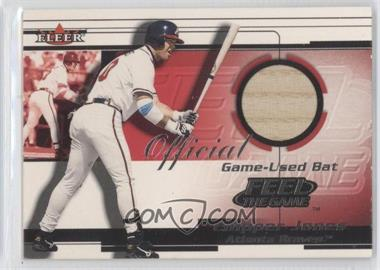 2001 Fleer Feelr the Game Bats Multi-Product Insert [Base] #CHJO - Chipper Jones