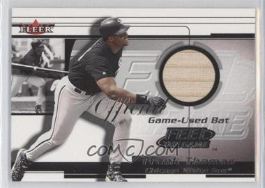 2001 Fleer Feelr the Game Bats Multi-Product Insert [Base] #FRTH - Frank Thomas