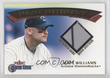2001 Fleer Game Time Uniformity #N/A - Matt Williams