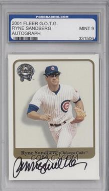2001 Fleer Greats of the Game Autographs #RYSA - Ryne Sandberg [ENCASED]
