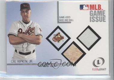 2001 Fleer Legacy MLB Game Issue Game-Used Base and Ball #NoN - Cal Ripken Jr. /100
