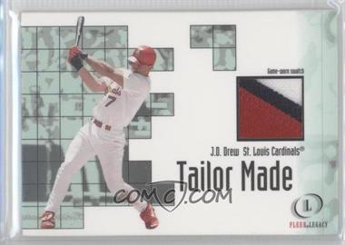 2001 Fleer Legacy Tailor Made Game-Worn Jersey #JDDR - J.D. Drew
