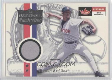 2001 Fleer Platinum National Patch Time #N/A - Pedro Martinez