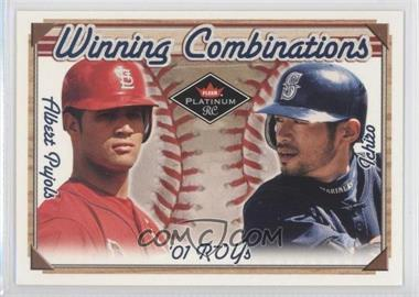 2001 Fleer Platinum Winning Combinations Blue Retail #3 WC - Albert Pujols, Ichiro Suzuki