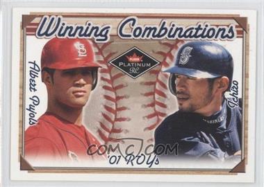 2001 Fleer Platinum Winning Combinations Blue Retail #3 WC - Albert Pujols, Ichiro Suzuki