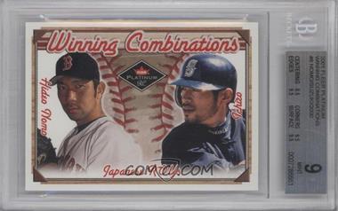 2001 Fleer Platinum Winning Combinations #8 WC - Hideo Nomo, Ichiro Suzuki /2000 [BGS9]