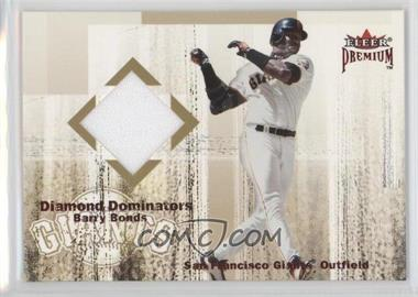 2001 Fleer Premium - Diamond Dominators Jerseys #BABO - Barry Bonds