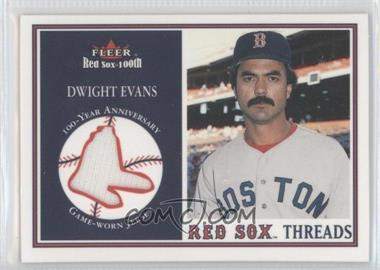 2001 Fleer Red Sox 100th - Threads #N/A - Dwight Evans