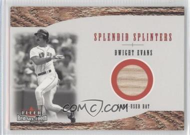 2001 Fleer Red Sox 100th Splendid Splinters Bats [Memorabilia] #SSN/A - Dwight Evans