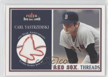 2001 Fleer Red Sox 100th Threads #N/A - Carl Yastrzemski