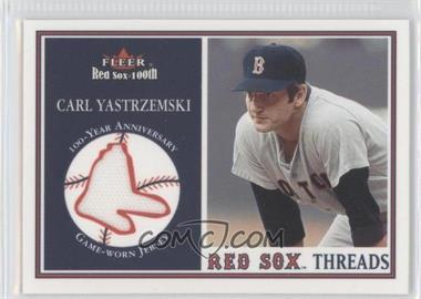 2001 Fleer Red Sox 100th Threads #N/A - Carl Yastrzemski