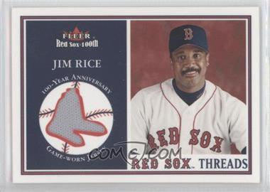 2001 Fleer Red Sox 100th Threads #N/A - Jim Rice