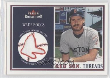 2001 Fleer Red Sox 100th Threads #N/A - Wade Boggs