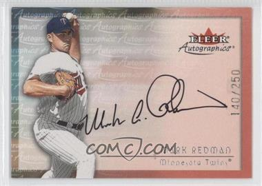 2001 Fleer Showcase Autographics Silver #MARE - Mark Redman /250