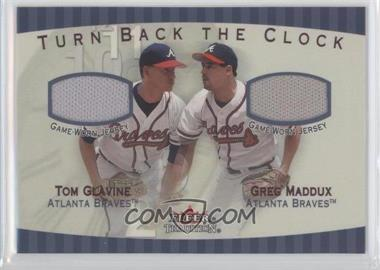 2001 Fleer Tradition Turn Back The Clock Jerseys #TGGM - Tom Glavine, Greg Maddux