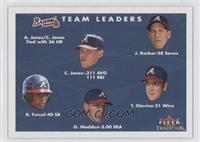 Chipper Jones, John Rocker, Rafael Furcal, Greg Maddux, Tom Glavine