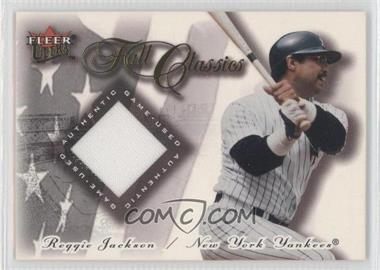 2001 Fleer Ultra - Fall Classics Memorabilia #REJA - Reggie Jackson
