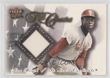 2001 Fleer Ultra Fall Classics Memorabilia #N/A - Lou Brock