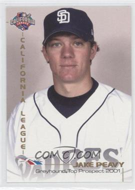 2001 Grandstand California League Top Prospects - [Base] #JAPE - Jake Peavy