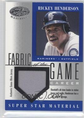 2001 Leaf Certified Materials Fabric of the Game #FG - 57 - Rickey Henderson /282
