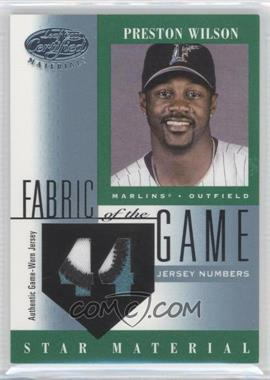 2001 Leaf Certified Materials Fabric of the Game #FG-103 - Preston Wilson /44