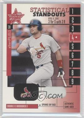 2001 Leaf Rookies & Stars [???] #SS-13 - Albert Pujols