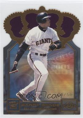 2001 Pacific - Gold Crown Die-Cuts - Purple #31 - Barry Bonds /50