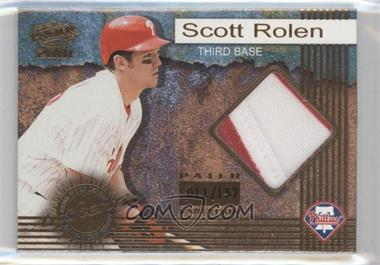 2001 Pacific Game-Worn Jerseys Patch #5 - Scott Rolen /157