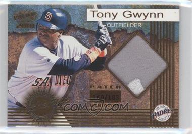 2001 Pacific Game-Worn Jerseys Patch #7 - Tony Gwynn /183
