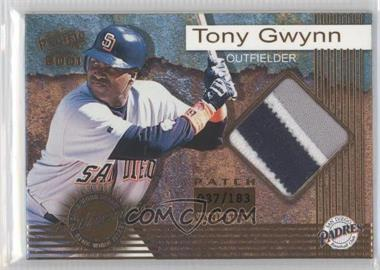 2001 Pacific Game-Worn Jerseys Patch #7 - Tony Gwynn /183
