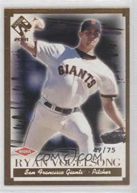 2001 Pacific Private Stock [???] Gold Portraits #145 - Ryan Vogelsong /75