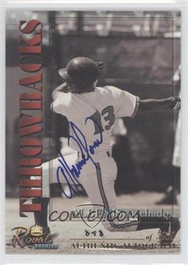 2001 Royal Rookies Throwbacks - [Base] - Autographs [Autographed] #13 - Albenis Machado /5950