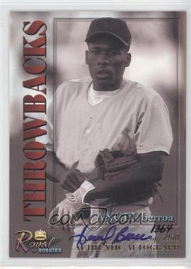 2001 Royal Rookies Throwbacks - [Base] - Autographs [Autographed] #21 - Angel Berroa /5950