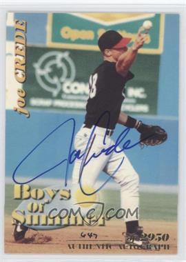 2001 Royal Rookies Throwbacks - Boys of Summer - Autographs [Autographed] #BOS#3 - Joe Crede /2950