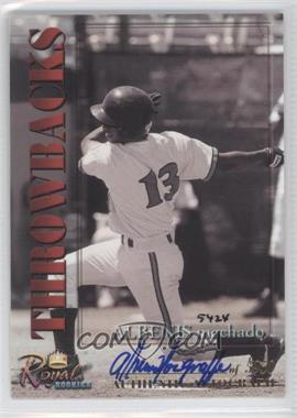 2001 Royal Rookies Throwbacks Autographs [Autographed] #13 - Al Martin /5950