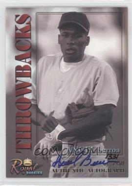 2001 Royal Rookies Throwbacks Autographs [Autographed] #21 - Angel Berroa /5950