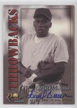 2001 Royal Rookies Throwbacks Autographs [Autographed] #21 - Angel Berroa /5950