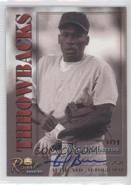 2001 Royal Rookies Throwbacks Autographs [Autographed] #21 - [Missing] /5950