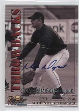 2001 Royal Rookies Throwbacks Autographs [Autographed] #28 - Michael Napoli /5950