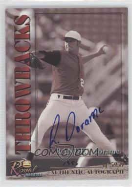 2001 Royal Rookies Throwbacks Autographs [Autographed] #6 - Randey Dorame /5950