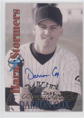2001 Royal Rookies Throwbacks BarnStormers Autographs [Autographed] #B6 - Darron Cox /3950